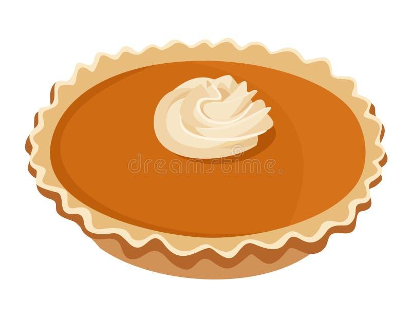 Pumpkin Pie. Vector Illustration. Stock Image