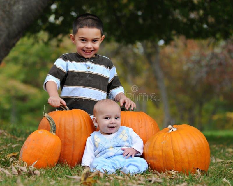 Pumpkin Pose stock photography