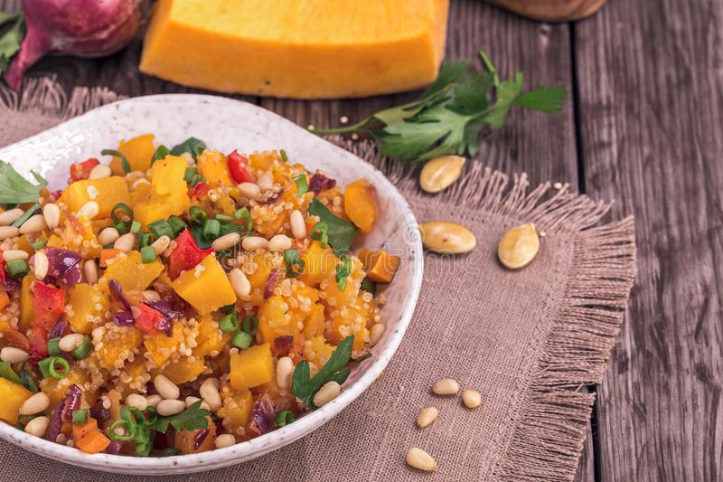 Pumpkin and quinoa salad stock image