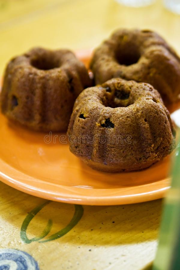 Pumpkin Raisin Muffins stock photos
