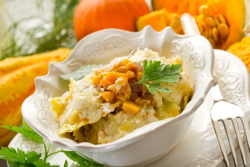 Pumpkin ravioli stock photography