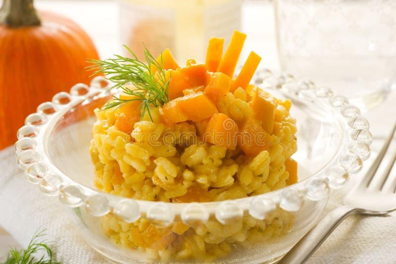 Pumpkin risotto royalty free stock image