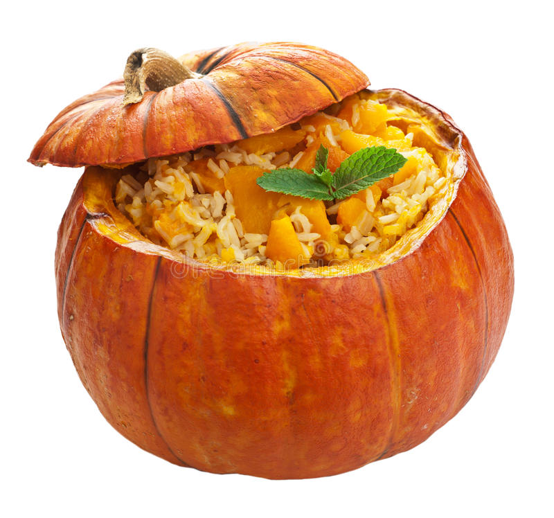 Download Pumpkin risotto isolated stock photo. Image of prepared - 26539214