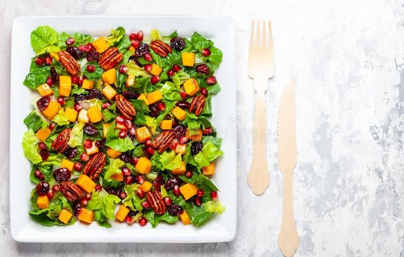 Pumpkin salad for holiday stock photography
