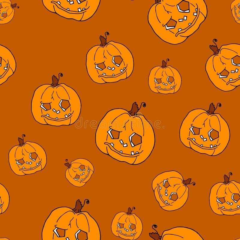 Pumpkin seamless pattern on orange background. Orange pumpkin background for Harvest festival or Thanksgiving day. Halloween. Orange repeating print royalty free stock photos