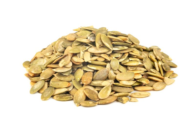 Pumpkin seed kernels stock photo