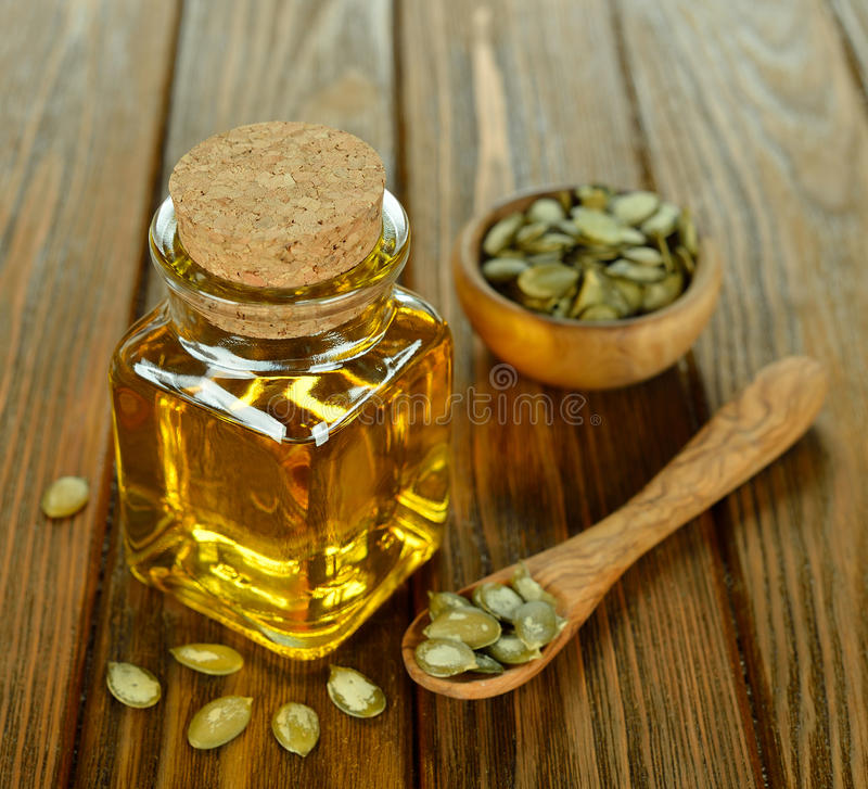 Pumpkin seed oil stock photography