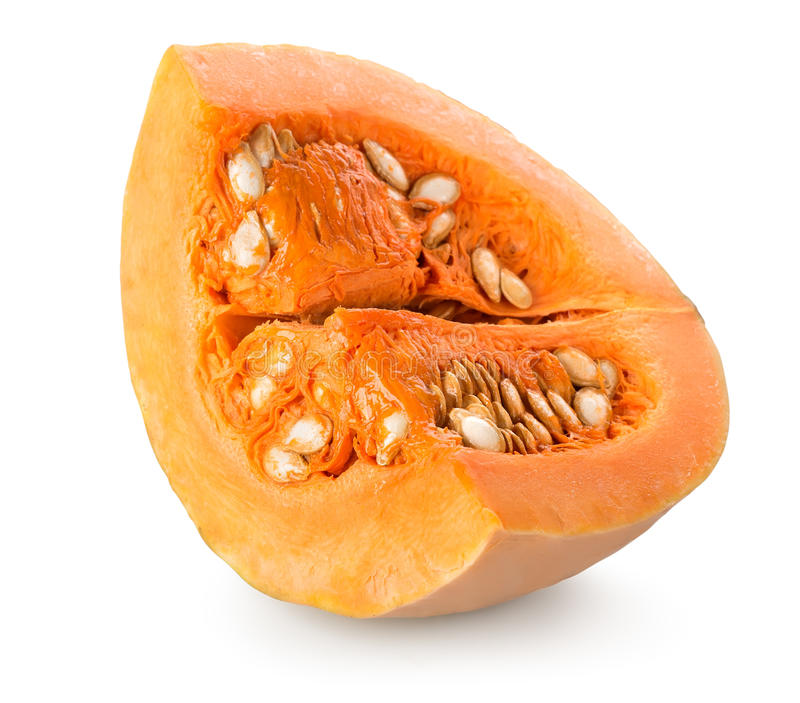 Pumpkin with seeds stock images