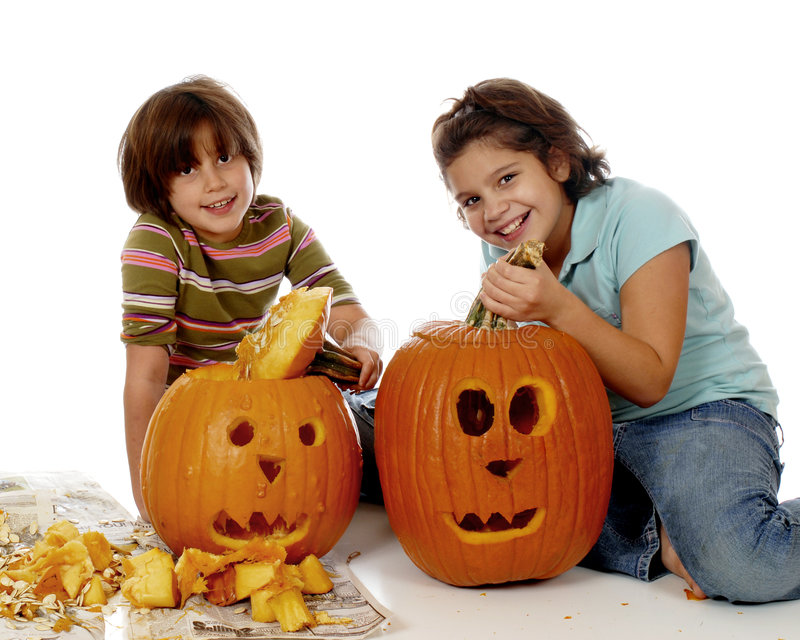 Download Pumpkin Sisters stock image. Image of people, face, kids - 6061067