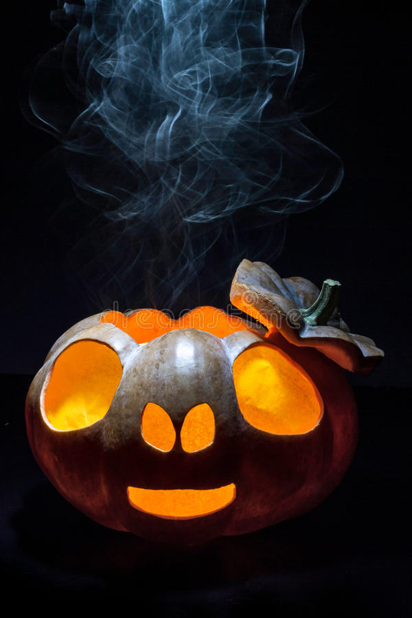 Pumpkin smoking stock photography