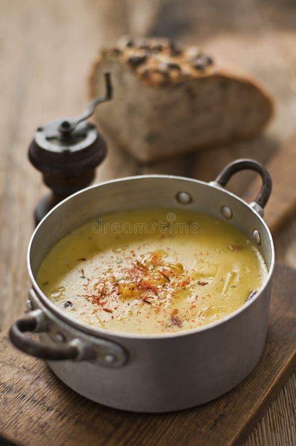 Download Pumpkin soup stock image. Image of plate, restaurant - 21958269