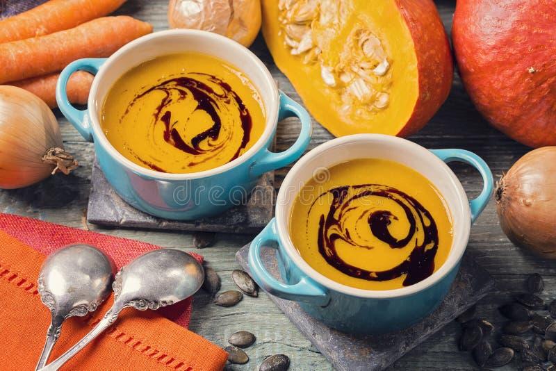 Pumpkin soup royalty free stock photos