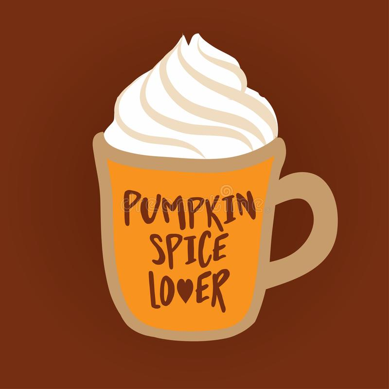 Pumpkin spice latte. Hand drawn vector illustration. vector illustration