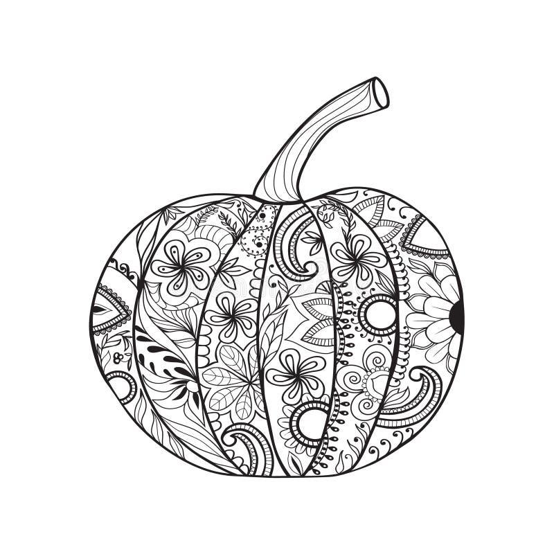 Pumpkin for Thanksgiving day, Halloween. royalty free illustration