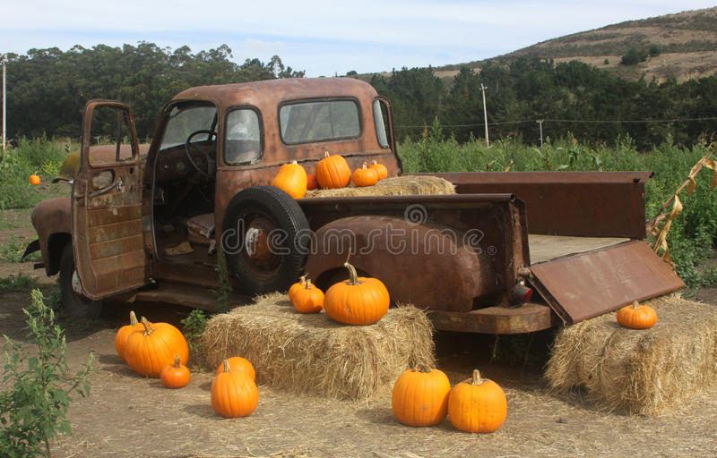Pumpkin Truck royalty free stock image