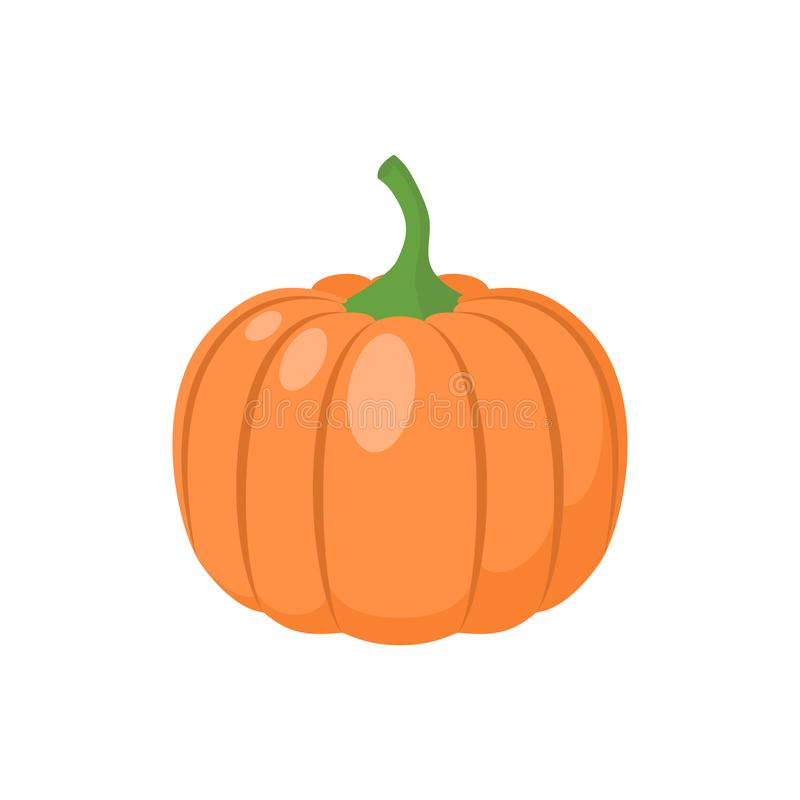 Pumpkin vegetable clipart simple icon. Pumpkin cartoon. royalty free illustration