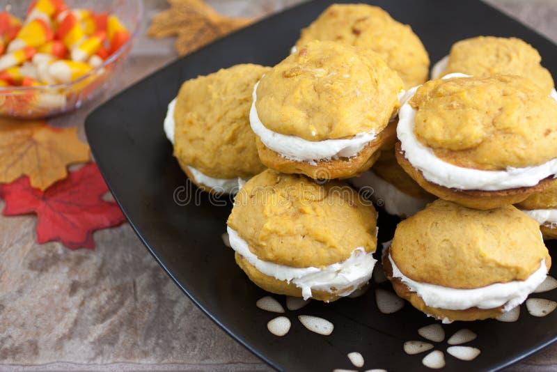 Pumpkin Whoopie Pies royalty free stock image