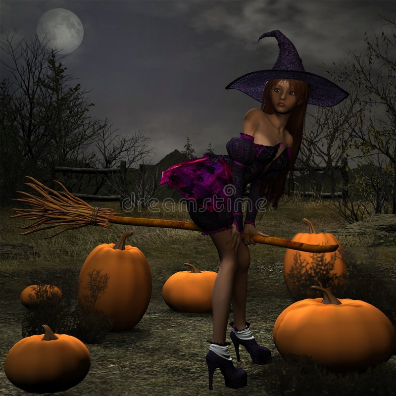 Download Pumpkin Witch stock illustration. Illustration of background - 3090677