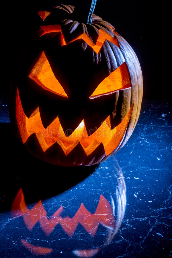 Free Pumpkin With Candle Lighted For Halloween Stock Photos - 26695773