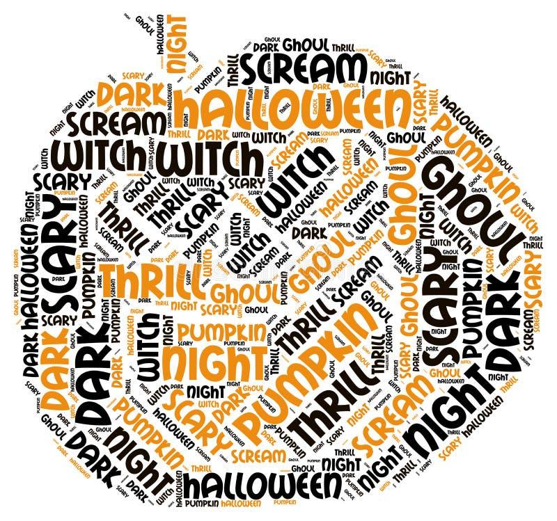 Pumpking Shape Halloween Word Tag Cloud Stock Photo - Image: 71099966