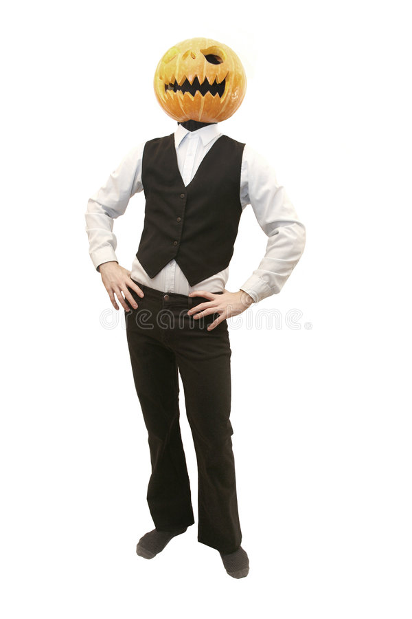 pumpkinman arkivfoton