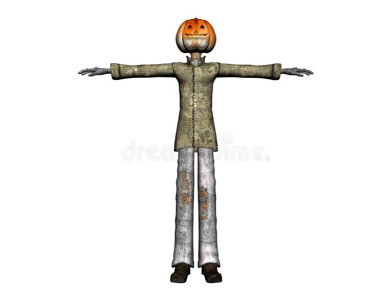 Pumpkinman ilustración del vector