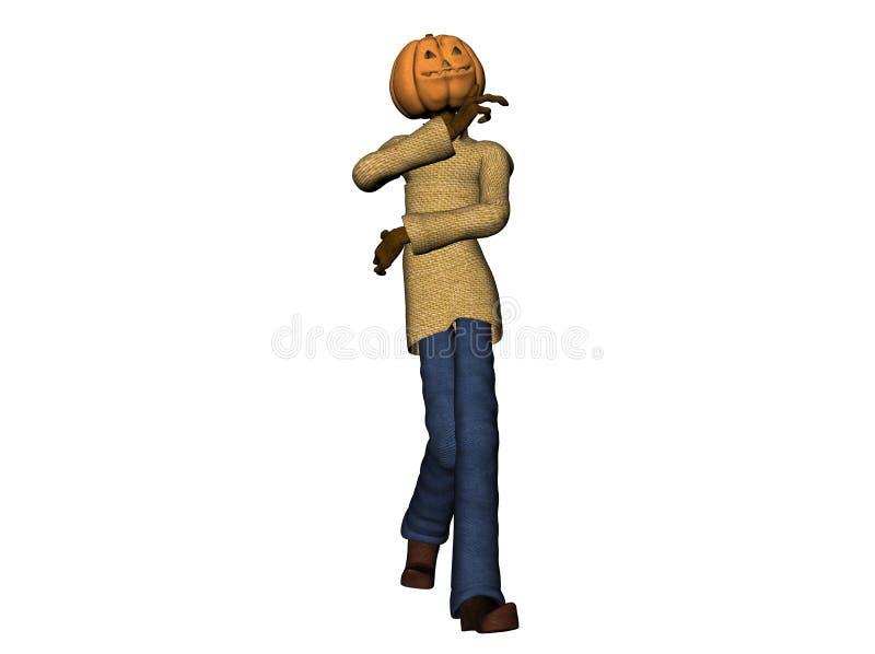 Pumpkinman images libres de droits