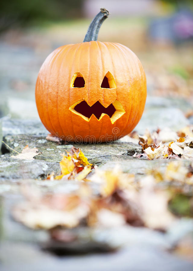 Download Pumpkinon a wall stock image. Image of lantern, frightening - 26672461