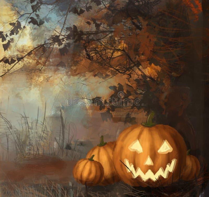 Download Pumpkins stock illustration. Image of expression, evening - 25701831