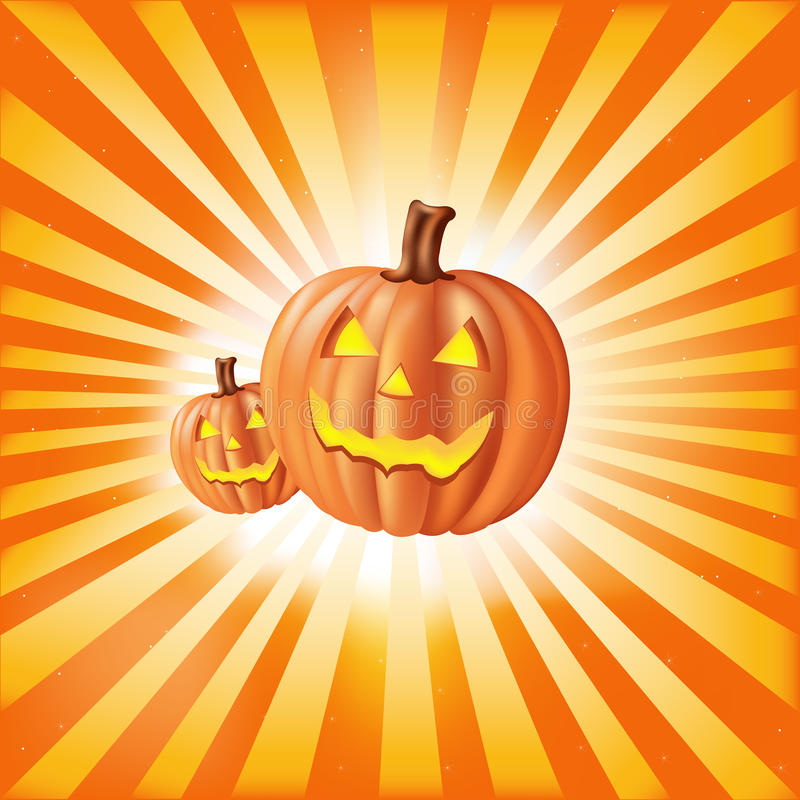 Download Pumpkins Against Sun Rays. Vector Stock Vector - Image: 16935742