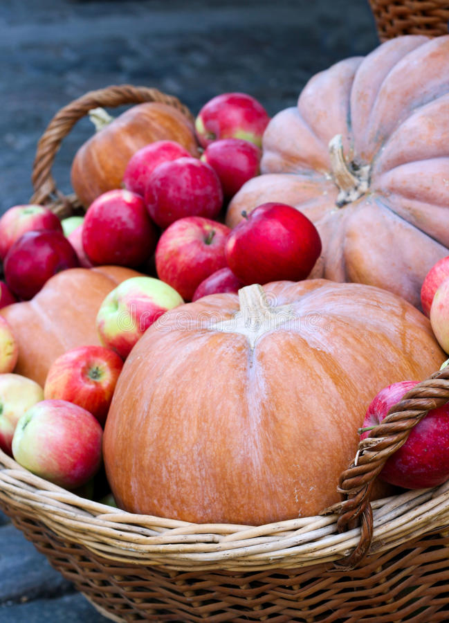 Free Pumpkins And Apples Royalty Free Stock Photo - 33429915