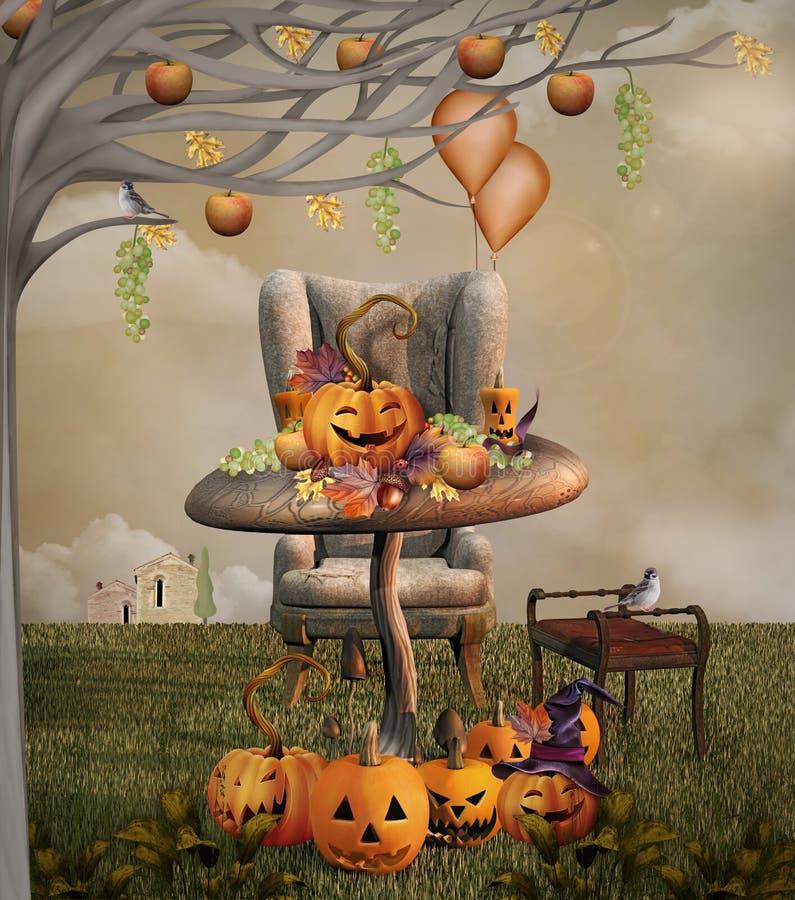 Download Pumpkins banquet stock illustration. Image of banquet - 33150126