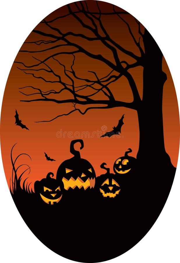 Download Pumpkins In Halloween Night Stock Vector - Illustration: 26329381