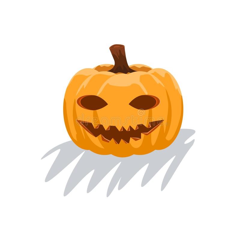Pumpkins for Halloween with smiley face. Decorative pumpkin. Vector illustration. vector illustration