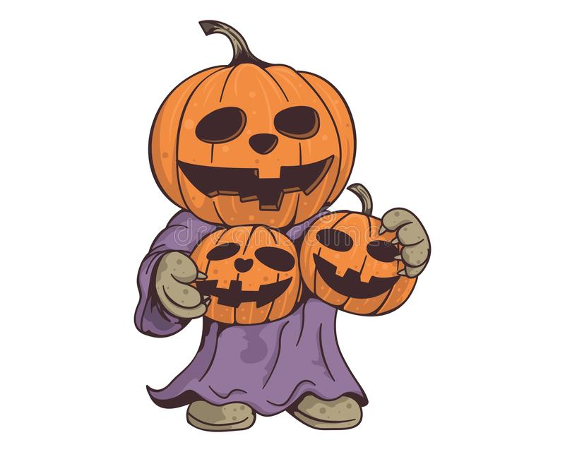The pumpkins head stock images