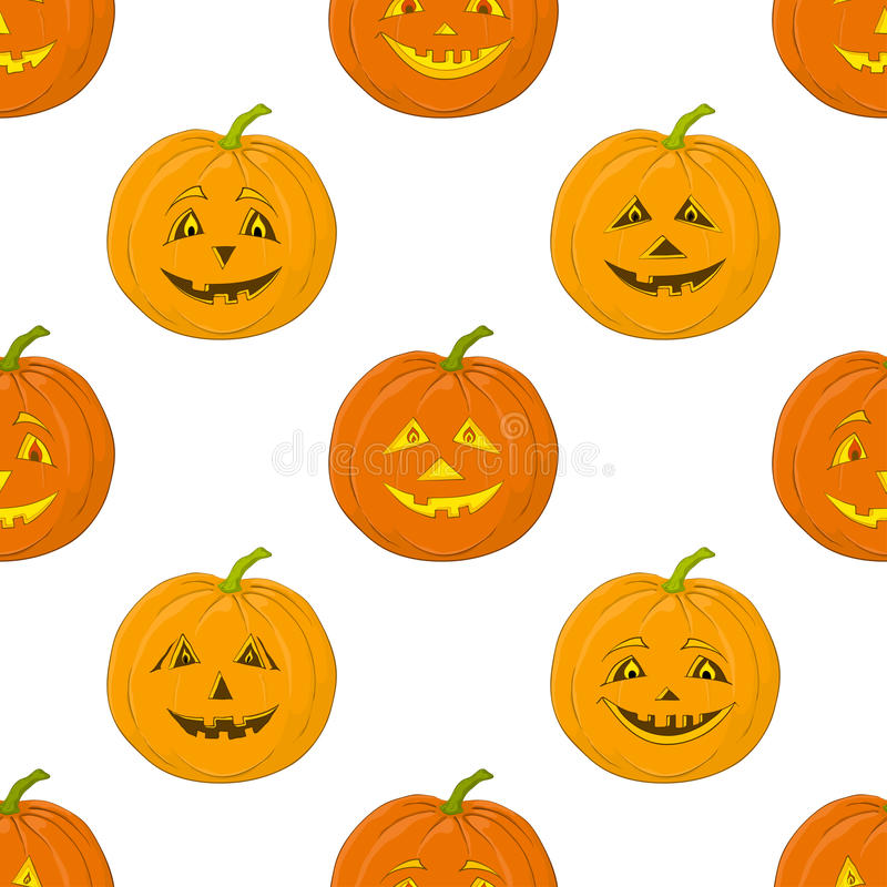 Download Pumpkins Jack O Lantern, Seamless Background Stock Vector - Image: 25862735