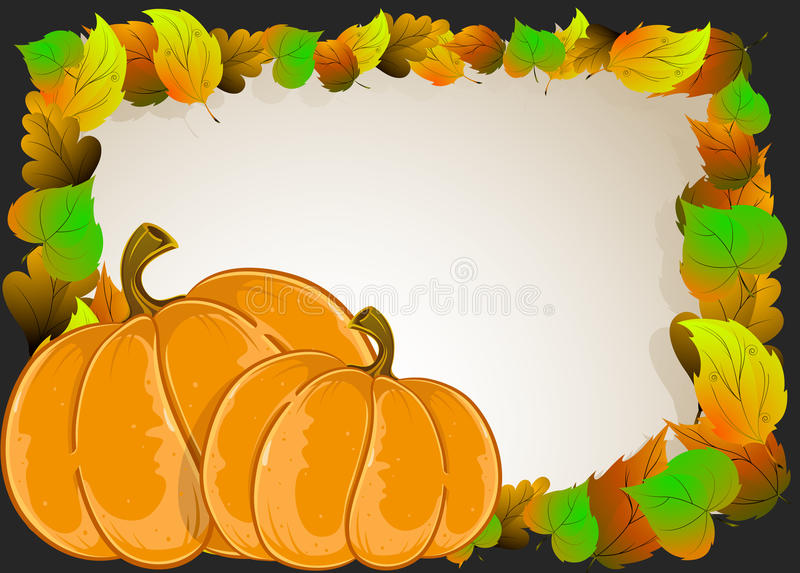 Download Pumpkins with  leaves stock vector. Illustration of design - 34003877