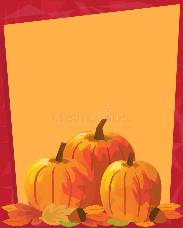 Download Pumpkins Note stock vector. Illustration of banner, autumn - 42624185