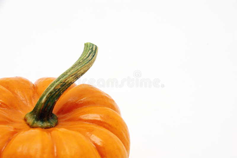 Pumpkins over white background stock photo