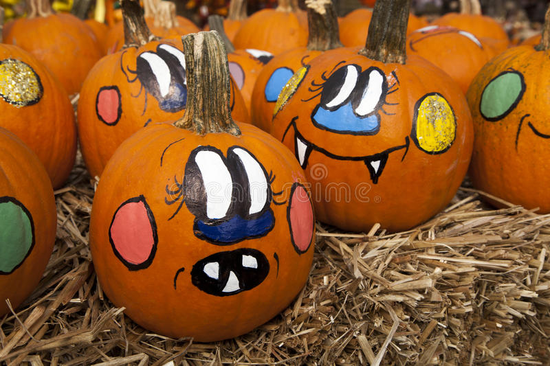 Pumpkins with Personality royalty free stock photography