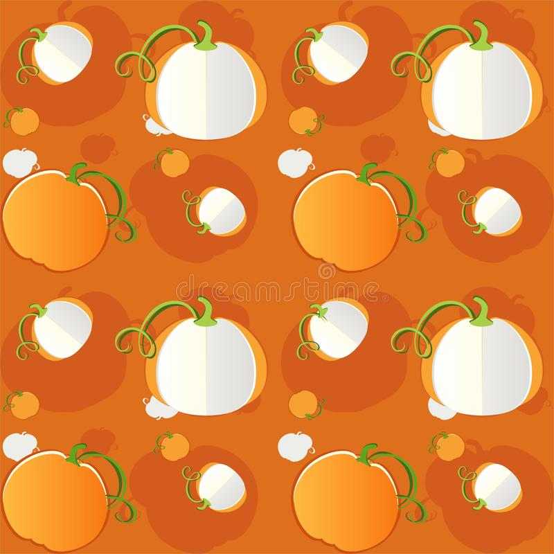 Pumpkins seamless pattern - vector. Background Eps file available. Useful also as design element for gift wrapping stock illustration