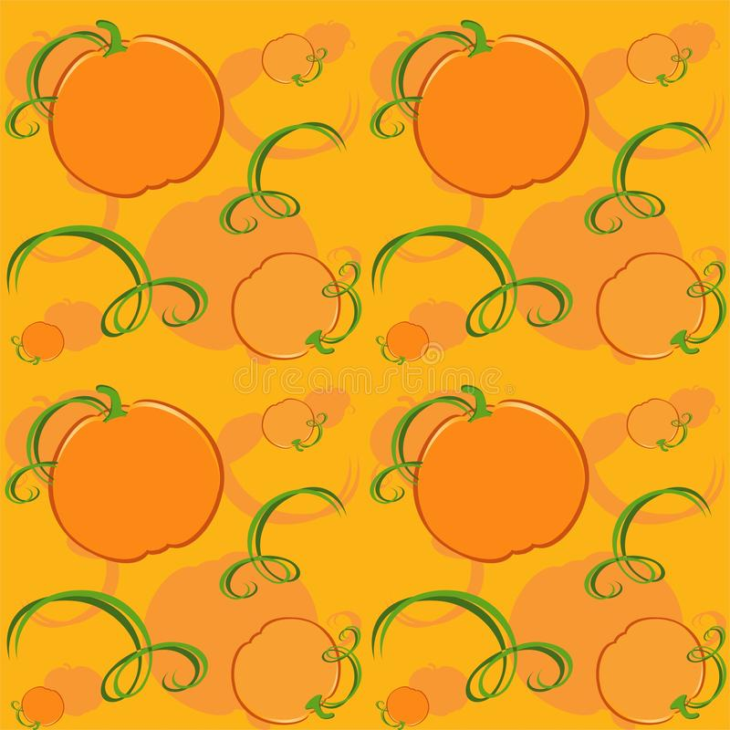 Pumpkins seamless pattern - vector. Background Eps file available. Useful also as design element for gift wrapping vector illustration