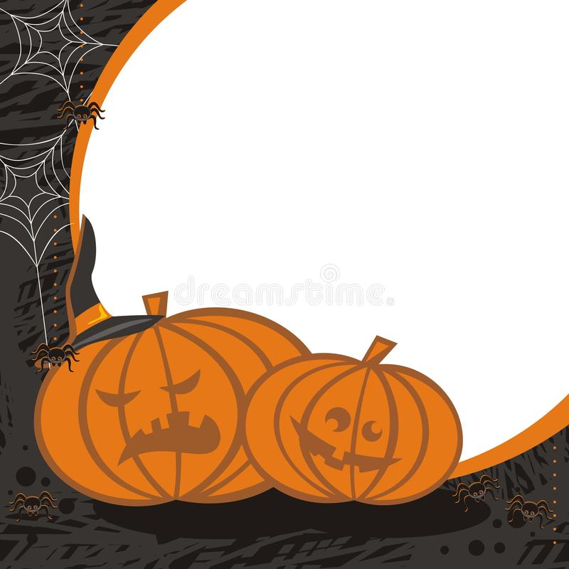 Download Pumpkins and spiders stock vector. Illustration of color - 27204986