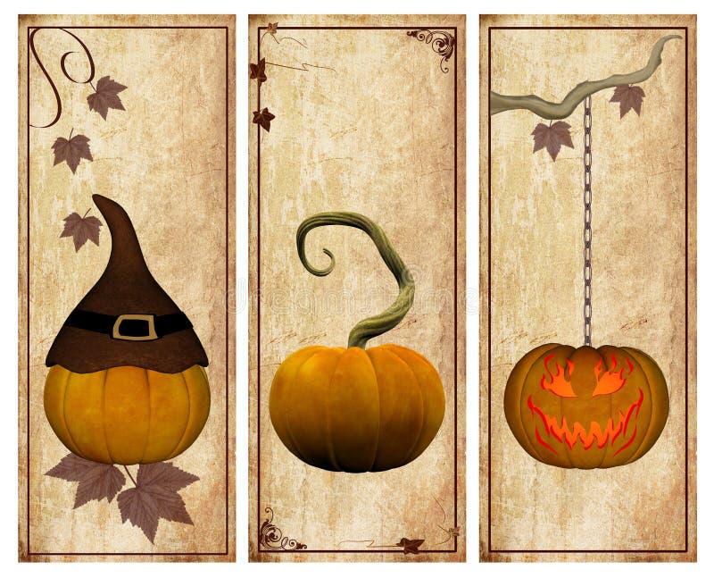 Pumpkins vintage collection stock illustration