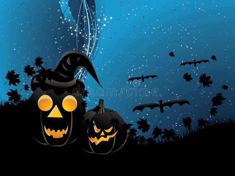 Download Pumpkins On Wavy Background Stock Vector - Image: 32981717
