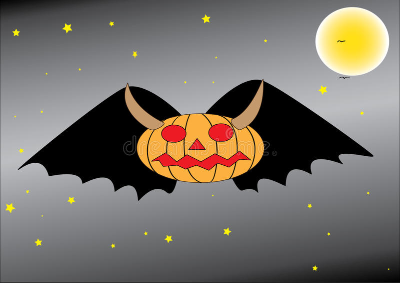 Download Pumpkn bat stock photo. Image of night, black, scream - 23847882