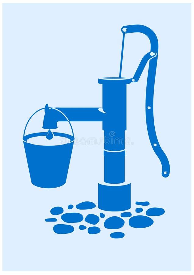 pumpvatten stock illustrationer