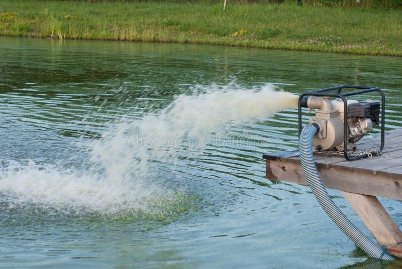 pumpvatten fotografering för bildbyråer