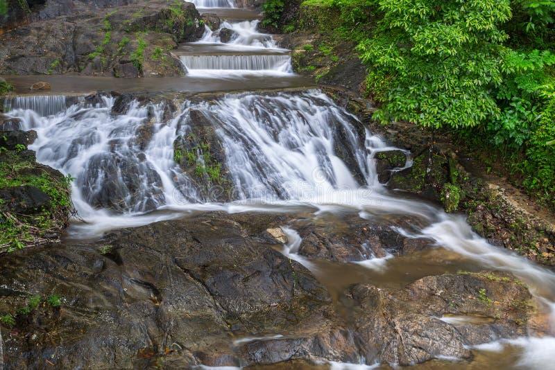 Pun Ya Ban Waterfall Ranong Thailand stockbild