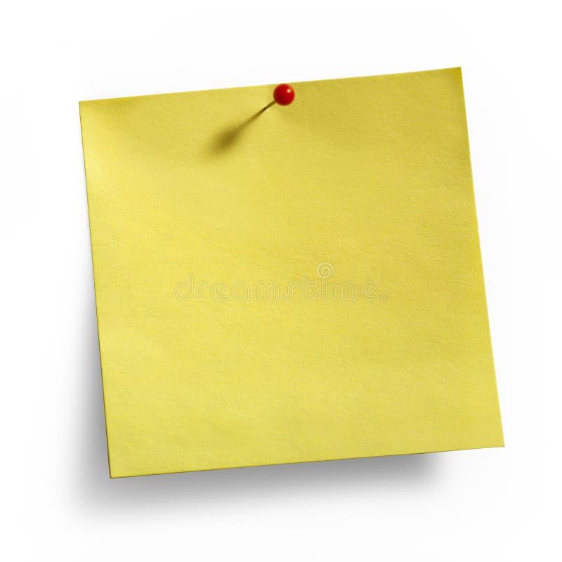 Punaise collante jaune de rouge de note photographie stock